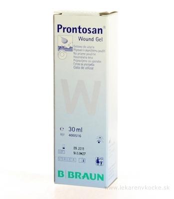 B.BRAUN PRONTOSAN WOUND GEL STERILNÝ čistenie, zvlhčovanie hlbokých rán, gél 1x30ml