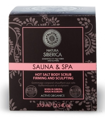 NATURA SIBERICA SAUNA&SPA Hot Body Scrub telový peeling, horúci, so soľou, na chudnutie 1x370 ml