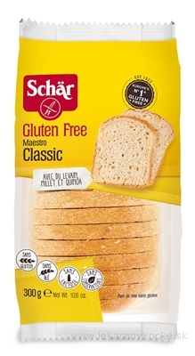 Schär MAESTRO CLASSIC chlieb bezgluténový, krájaný, 1x300 g
