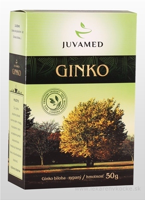 JUVAMED GINKO BILOBA - LIST bylinný čaj sypaný 1x50 g