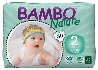 BAMBO MINI 2 (3-6 kg) detské plienky priedušné, savosť 600 ml, 1x30 ks
