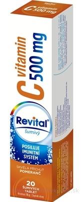 Revital vitamín C 500 mg šumivý tbl eff s príchuťou pomaranč 1x20 ks