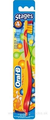 Oral-B ZK Stages 4 detská zubná kefka (od 8 rokov) 1x1 ks