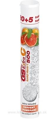 GS Extra C 500 šumivý červený pomaranč tbl eff 20+5 navyše (25 ks)
