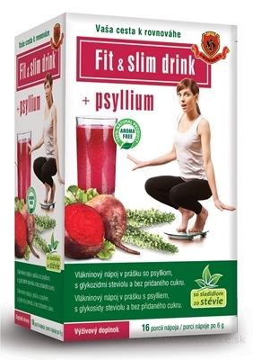 HERBEX FIT & SLIM drink + Psyllium vlákninový nápoj v prášku vo vrecúškach 16x6 g (96 g)