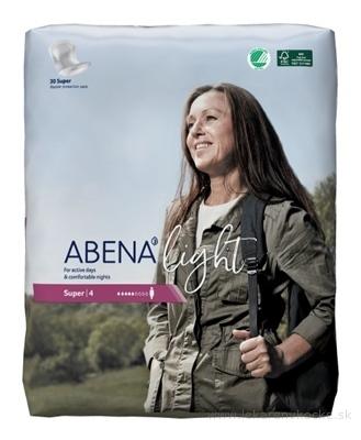 ABENA Light Super 4 vkladacie plienky, priedušné, savosť 850 ml, 1x30 ks