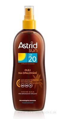 Astrid sun Olej na opaľovanie OF 20 sprej 1x200 ml