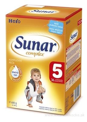 SUNAR COMPLEX 5, nový mliečna výživa (od ukonč. 36. mesiaca) inov.2016 (2x300 g) 1x600 g