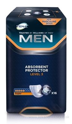 TENA MEN LEVEL 3 absorpčné vložky pre mužov, Super, 1x16 ks