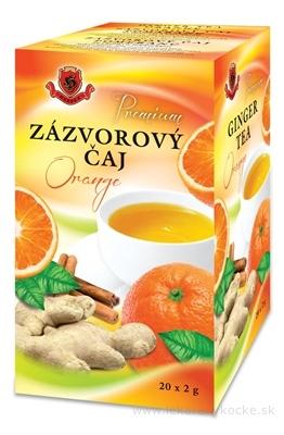 HERBEX Premium ZÁZVOROVÝ ČAJ Orange bylinný čaj 20x2 g (40 g)