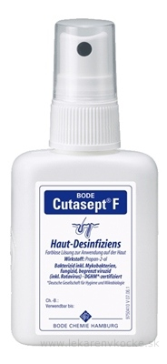 BODE Cutasept F bezfarebný alkoholový dezinfekčný prostriedok na kožu 1x50 ml