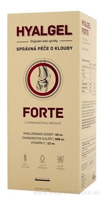 HYALGEL FORTE POMARANČ tekutý prípravok s Vitamínom C 1x500 ml