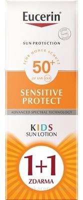 Eucerin SUN SENSITIVE PROTECT SPF50+ detské mlieko na opaľovanie 2x150 ml (1+1 zdarma), 1x1 set