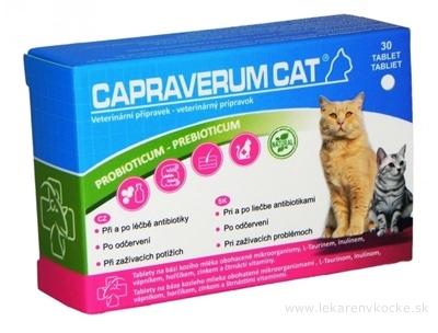 CAPRAVERUM CAT probioticum-prebioticum tbl 1x30 ks
