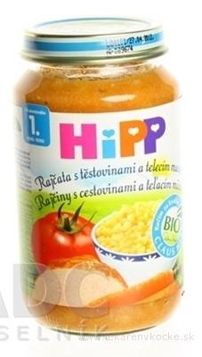 HiPP Príkrm BIO Rajčiny s cestovinami a teľacím mäsom (od ukonč. 1. roku) 1x220 g