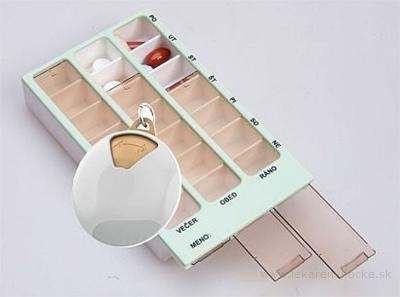 Dávkovač liekov MIX 02 + 05 týždenný dávkovač liekov 1ks +  vreckový dávkovač liekov 1ks, 1x1 set
