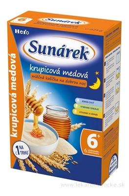 Sunárek kašička na dobrú noc mliečna krupicová medová (od ukonč. 6. mesiaca) 1x225 g