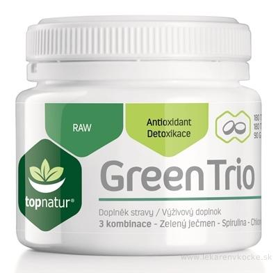 topnatur GREEN TRIO tbl (spirulina, chlorella, zelený jačmeň) 1x180 ks