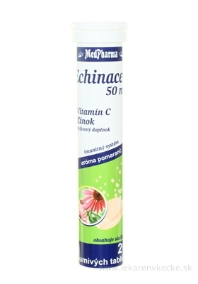 MedPharma ECHINACEA 50 mg + vitamín C + Zinok tbl eff 1x20 ks