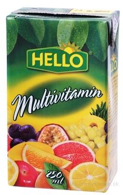HELLO MINI DŽÚS ovocný nápoj, príchuť multivitamín 1x250 ml