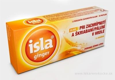 ISLA GINGER pastilky s medom, 1x30 ks