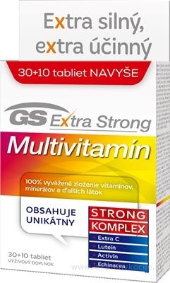 GS Extra Strong Multivitamín 2017 tbl 30+10 navyše (40 ks)