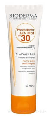 BIODERMA Photoderm AKN MAT SPF 30 (V2) fluid (inov.2020) 1x40 ml