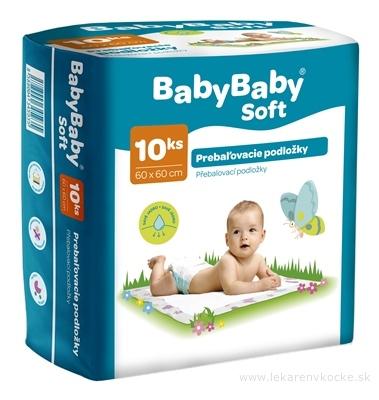 BabyBaby Soft Podložky prebaľovacie 60x60 cm 1x10 ks