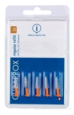 CURAPROX CPS 14 regular refill oranžová medzizubné kefky bez držiaka 1x5 ks