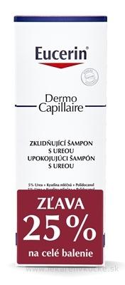 Eucerin DermoCapillaire Šampón s 5% ureou upokojujúci, 2x250 ml (1+1 PROMO 2020, zľava) 1x1 set