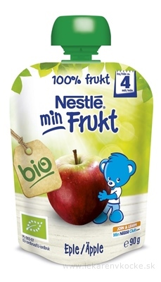 Nestlé min Frukt BIO Jablko kapsička, ovocná desiata (od ukonč. 4. mesiaca) 1x90 g