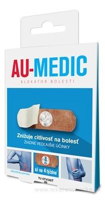 AU-MEDIC blokátor bolesti náplasti (crystal tape) 1x4 ks