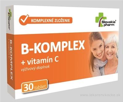Slovakiapharm B-KOMPLEX + vitamín C tbl 1x30 ks