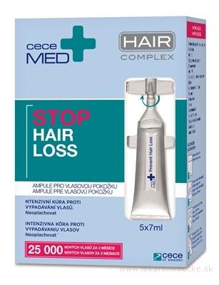 ceceMED STOP HAIR LOSS ampulky pre vlasovú pokožku 5x7 ml