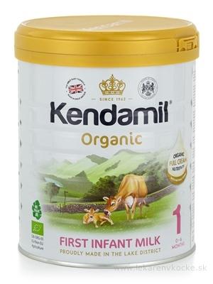 KENDAMIL 1 Organic, BIO počiatočné dojčenské mlieko s DHA (0 - 6 mesiacov) 1x800 g