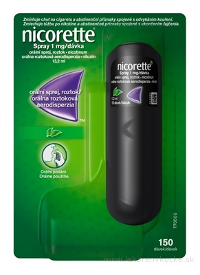 Nicorette Spray 1mg/dávka aer ora 150 dávok (fľ.PET) 1x13,2 ml