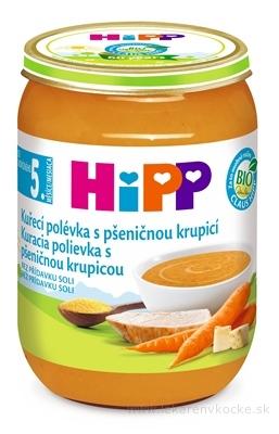 HiPP Polievka BIO Kuracia s pšeničnou krupicou (od ukončeného 5. mesiaca) 1x190 g