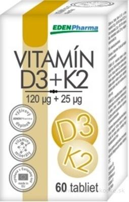 EDENPharma VITAMÍN D3 + K2 tbl 1x60 ks