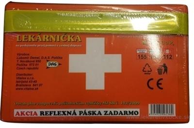 D.A.S. AUTOLEKÁRNIČKA 1 ks + reflexná páska zadarmo 1x1 set