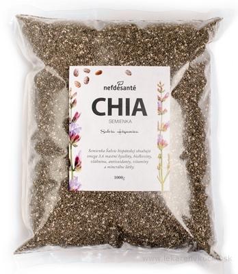 nefdesanté CHIA semienka semená Šalvie (Salvia Hispanica) 1x1000 g