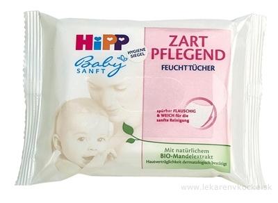 HiPP BabySANFT Čistiace vlhčené obrúsky s mandľovým olejom 1x10 ks
