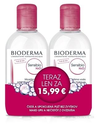 BIODERMA Sensibio H2O FESTIVAL micelárna pleťová voda na citlivú pleť 2x250 ml (akciová cena), 1x1 set