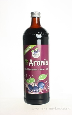 Bio Aronia džús (Aroniasaft) 100% priamo lisovaná šťava 1x0,7 l