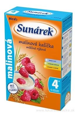 SUNÁREK mliečna ryžová kašička malinová (od ukonč. 4. mesiaca) 1x225 g
