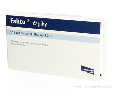 FAKTU čapíky sup 100 mg/2,5 mg (fólia PVC/PE) 1x10 ks