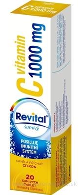 Revital vitamín C 1000 mg šumivý tbl eff s príchuťou citrón 1x20 ks