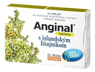 Dr. Müller ANGINAL s islandským lišajníkom tbl (na odkašliavanie) 1x16 ks