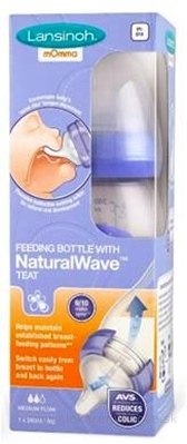 LANSINOH Dojčenská fľaša s NaturalWave cumľom 1x240 ml