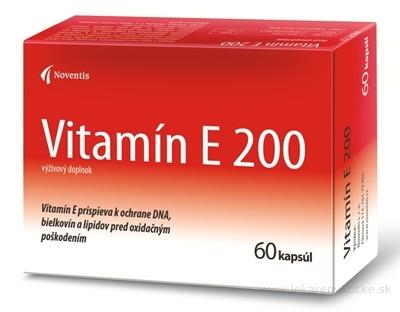 Noventis Vitamín E 200 cps 4x15 ks (60 ks)