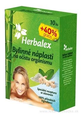 Herbalex Bylinné náplasti na očistu organizmu 10 ks + 40% gratis (14 ks)